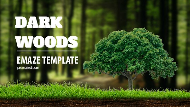 Dark woods - forest-themed emaze template