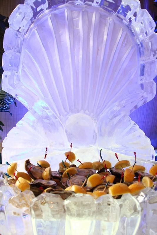 Clams Inside An Ice Sculpture Clam