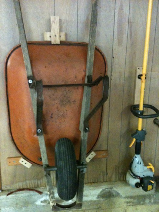 Shop Organization: Wheelbarrow Mounts - by DSnyder @ LumberJocks.com ~ woodworking community
