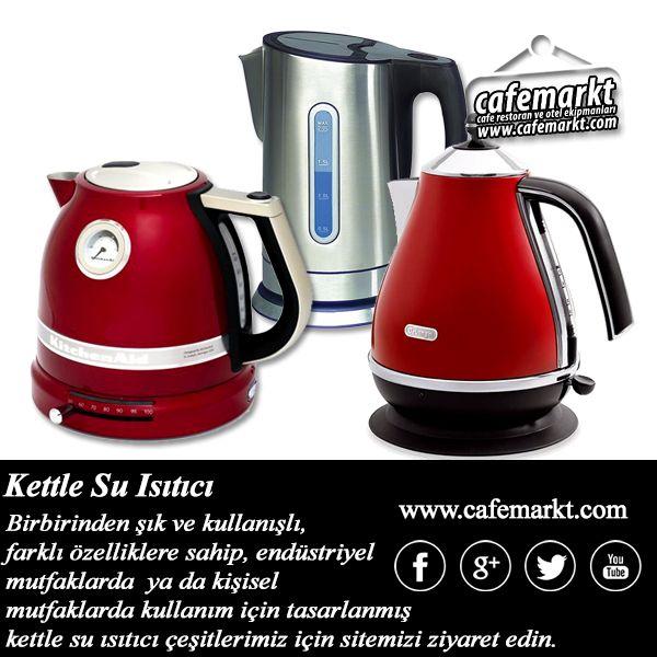 Birbirinden şık ve kullanışlı, farklı özelliklere sahip, endüstriyel mutfaklarda  ya da kişisel mutfaklarda kullanım için tasarlanmış kettle su ısıtıcı çeşitlerimiz için sitemizi ziyaret edin. http://www.cafemarkt.com/sicak-su-otomatlari #Cafemarkt #Kitchenaid #Delonghi #Midea #Kettle #SuIsıtıcısı #SuIsıtıcı