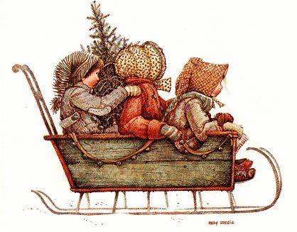 Holly Hobbie ~ Christmas Sleigh