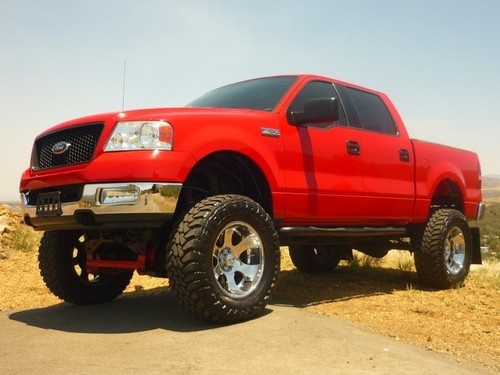 ford f 150 xlt lifted would look better with out the flaps on the - Red Ford F150 Lifted
