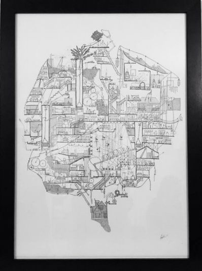 Ellie Compton: House of Memories- New Zealand Artist that intertwines architecture and Narrative in complex hand drawings