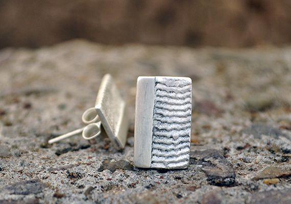 Rectangle 925 Silver earrings