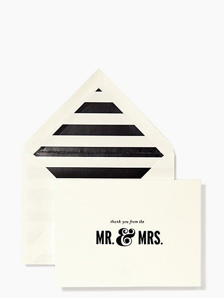 Cute Kate Spade Wedding Thank You cards.