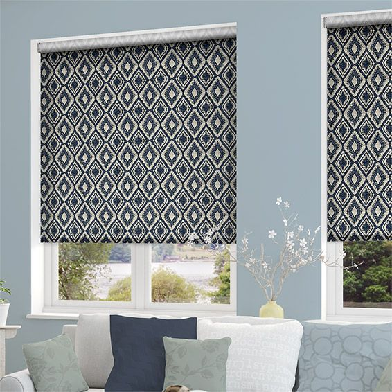 Choices Pareco Painterly Blue Roller Blind from Blinds 2go