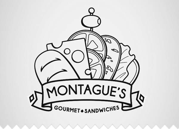 15 best creative line art logo designs restaurante for Painting and decorating logo ideas