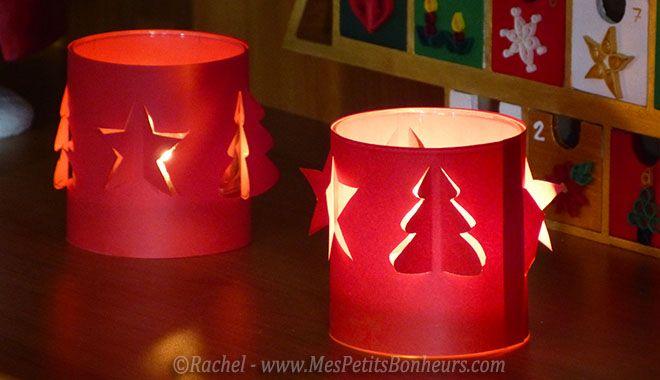 Photophores ou lumignons de Noël avec découpe en kirigami