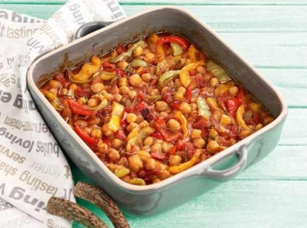 The perfect everyday family meal... Hearty, delicious and sweet! Serve with feta cheese and crusty bread. #chickpeas #greekfood