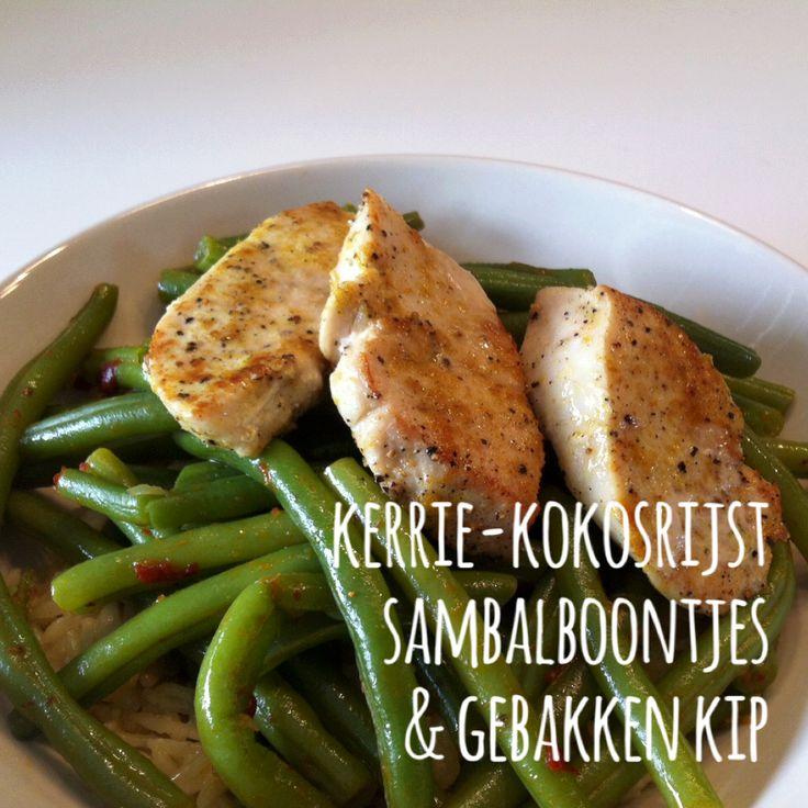Kerrie-kokosrijst, sambalboontjes & gebakken kip Check www.goodfood.sixseconds.nl voor recepten