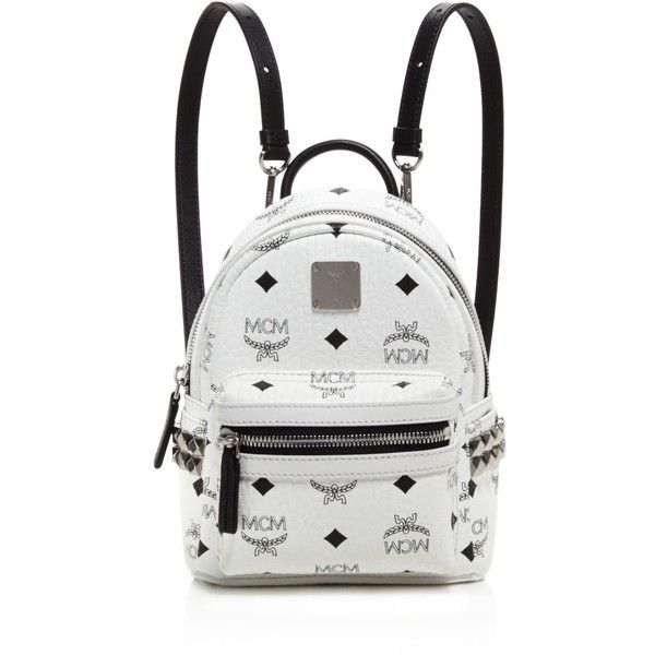 Mcm Extra Mini Side Stud Stark Backpack ( 670) ❤ liked on Polyvore  featuring bags f3ca2da9f6ec3