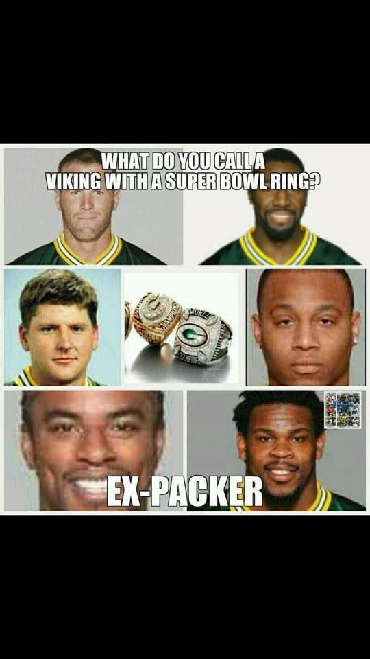 "Ha Ha!!!! I thought it was going to say ""A thief"" but ""ex-Packer"" is better!"