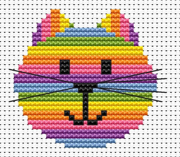 simple cross stitch designs | Fat Cat Cross Stitch Sewing Kits, crafty gifts, craft presents, crafty ...