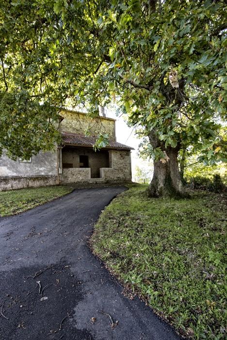 La iglesia de San Miguel y el roble