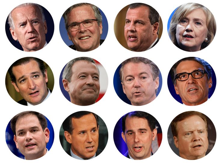 At least a dozen Republicans and a handful of Democrats have expressed an interest in running for their party's 2016 presidential nomination.