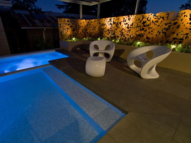 Eco Outdoor Bluestone pavers used as coping and surrounds of spa and pool. Eco Outdoor | The Garden Company | bluestone flooring | Badger dry stone walling | livelifeoutdoors | Outdoor design | Natural stone flooring + walling | Garden design | Outdoor paving | Outdoor design inspiration | Outdoor style | Outdoor ideas | Paving ideas | Garden ideas | Floor tiles | Outdoor tiles | Pool ideas | Bluestone flooring | Dry stone walling