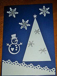 Papiernictvo - vianočný pozdrav - snehuliačik - 6080202_