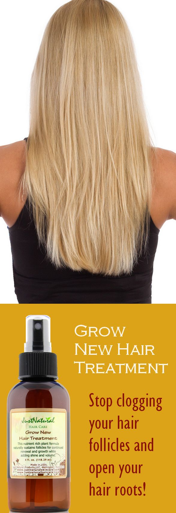 Grow New Hair Treatment / Encourage Your Hair to Grow Faster, Longer  and Fuller with Less Breakage
