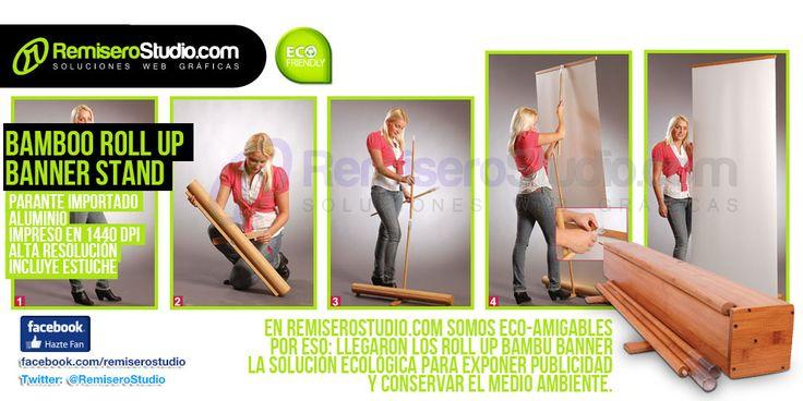 Bamboo Roll Up Banner Stand en Perú | Blog RemiseroStudio