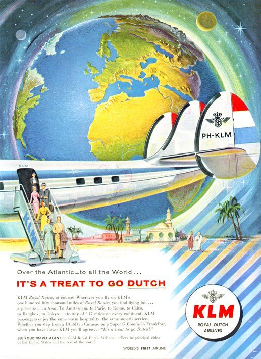 KLM. The beautiful KLM Constellation that carried us on long flights to visit Oma en Opa in Amsterdam during my childhood.