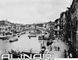The Grand Canal and the Rialto Bridge    Alinari, Fratelli * 1900 ca.  Alinari Archives-Alinari Archive, Florence $42