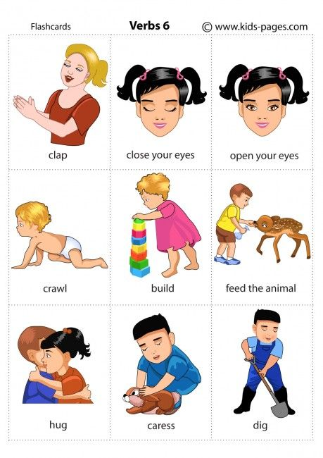 Kids Pages - Verbs 6