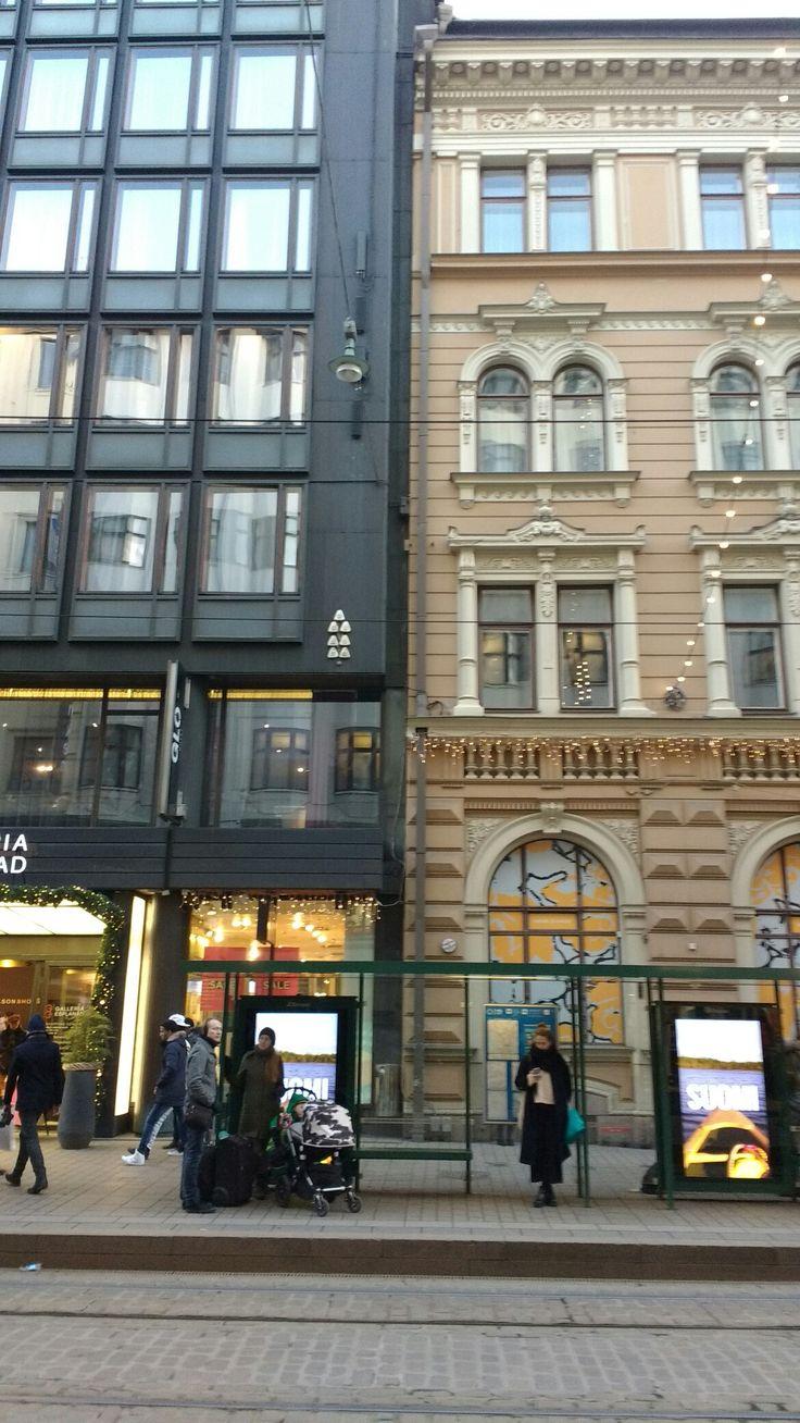 Aleksanterinkatu Helsinki old and new.