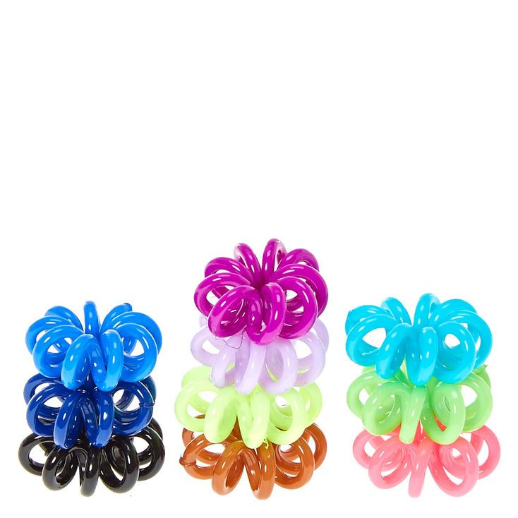 Mini Coiled Hair Ties Assorted Colours