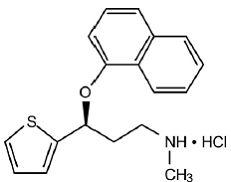 Cymbalta® (duloxetine hydrochloride)  Structural Formula Illustration