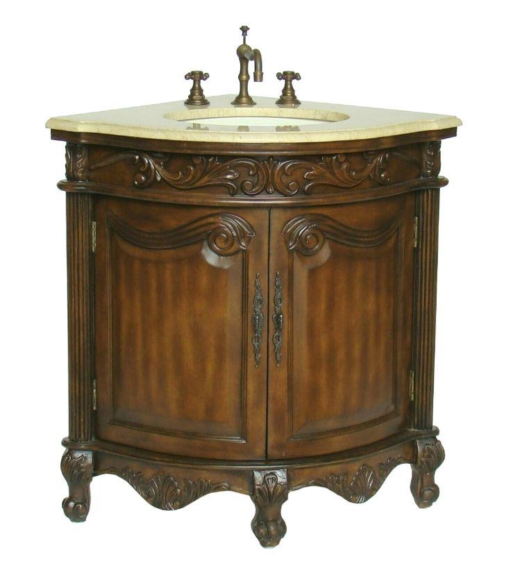 170 best single antique bathroom vanities images on - Antique bathroom sinks and vanities ...