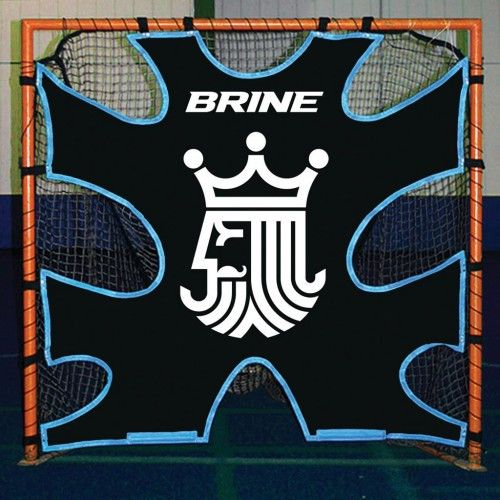 Realistic shot openings. Attaches to any 6′ by 6′ lacrosse goal.