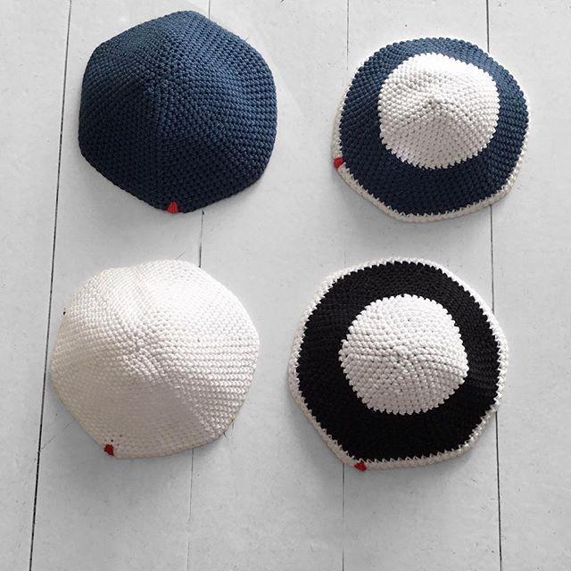 New Yarmulkas 💙🖤  ✔️Plain Navy  ✔️Plain White  ✔️Navy & White  ✔️Black & White  .  .  .  .  .  .  #penelopedcapetown #kippa #kippah #kippot #kippahdesign #handmade #crochet #shoplocal #shopsmall #shoponline #southafrica #capetown #johannesburg #yarmulke #jewishtradition #jewish
