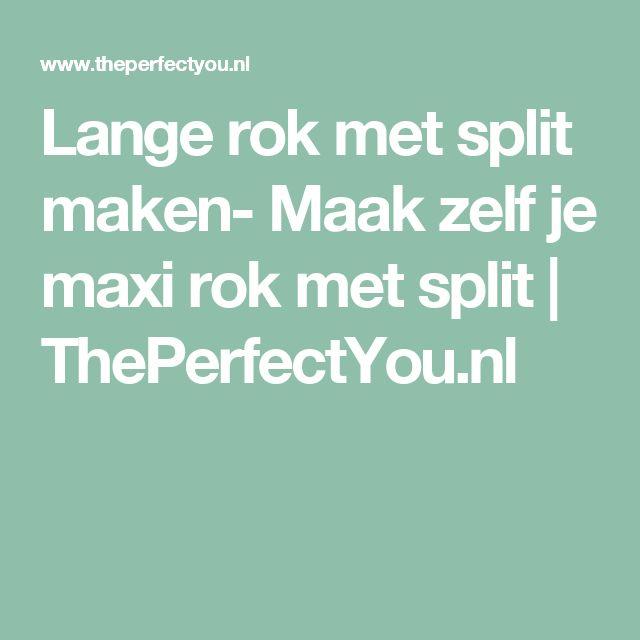 Lange rok met split maken- Maak zelf je maxi rok met split | ThePerfectYou.nl