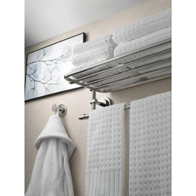 moen iso in l x in h x in w zinc hotelstyle bathroom shelf in brushed nickel