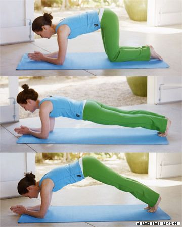 Strengthen your core with this easy ab workout: Dolphin Float, Wholeliving.com plank