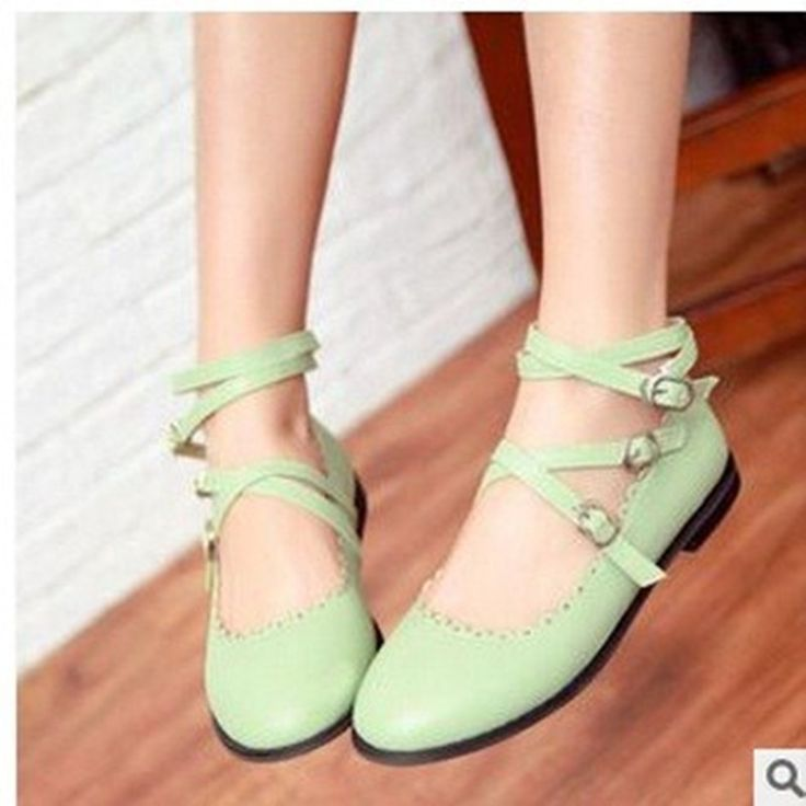23.56$  Buy now - 2016 Lady's big size (4 to 12) sexy plain Buckle soft candy colors platform driving shoes thin shoes in black/beige/red/green  #aliexpresschina