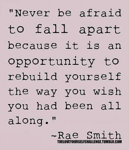 Rebuilding yourself
