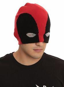 New-Marvel-Deadpool-Half-Mask-Cap-Hat-Beanie