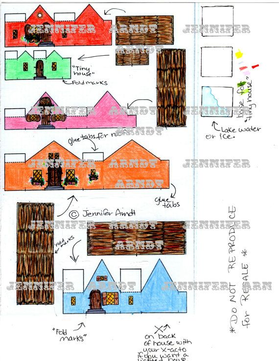 101 Best Images About Putz Glitter House Templates On
