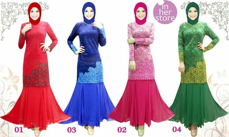 Baju Kurung by In Her Store Indonesia – Arisha Series Material : Chiffon Cerutti Size : XS - S – M – L – XL Retail Price : Rp 400rb/pc Reseler Price : Rp 375rb/pc (min.3pcs, mix size & colours allowed) PIN : 75BD8849 Line : inherstore