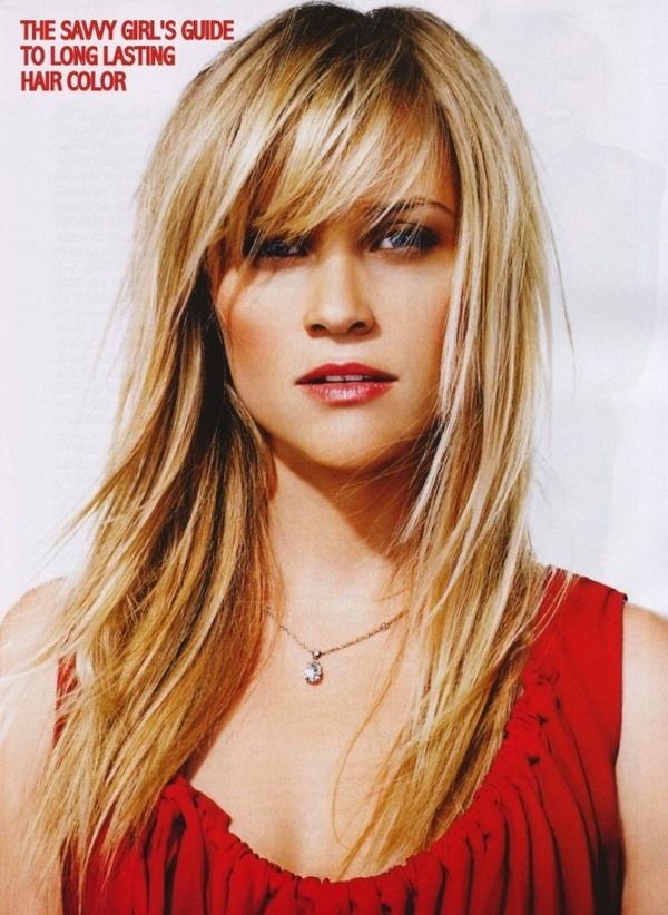 Really cute blonde hair bangs