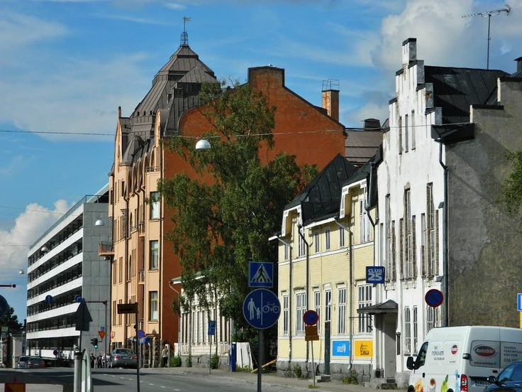 Raastuvankatu street in Vaasa, Finland.