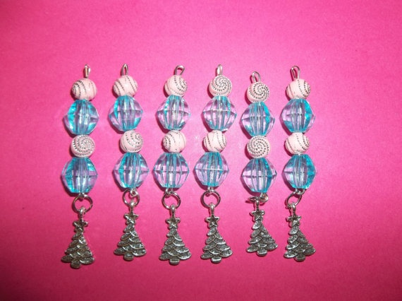 Charm Dangle Icicle Christmas Ornament Blue by SpunkyMomEmporium, $11.95