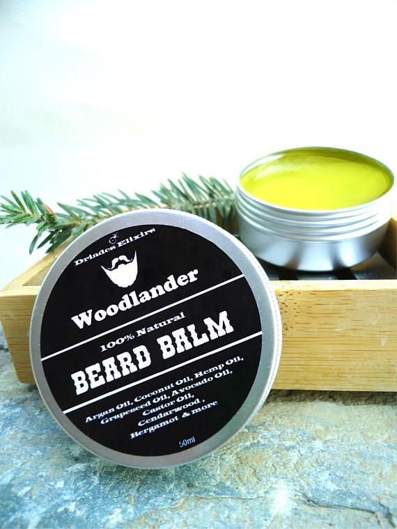 Best beard balm. All natural ingredients: argan, jojoba oil mixed together in beeswax.  Cedarwood and Bergamot essential  oils scent. Beard and mustache growth salve. #Handmade to order by #Driades #beardbalm #beardoil #arganoil #bearded #facialhair #menhaircare #naturalskincare #hairconditioner #cedarwoodoil #bergamotoil #beardbrand #beardedguy #giftsformen #menskincare #hairgrowth #hairstyles #safecosmetics #beardgang #malegrooming #beards #hipsters #barba