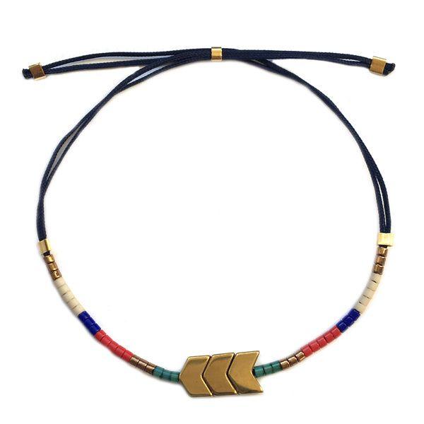 € 8,95 Miyuki Arrow armband Goud Rood Groen