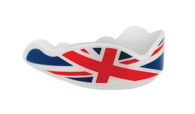 Union Jack flag design Fight Dentist Mouthguard suitable for ages 12 years + for only $25.00