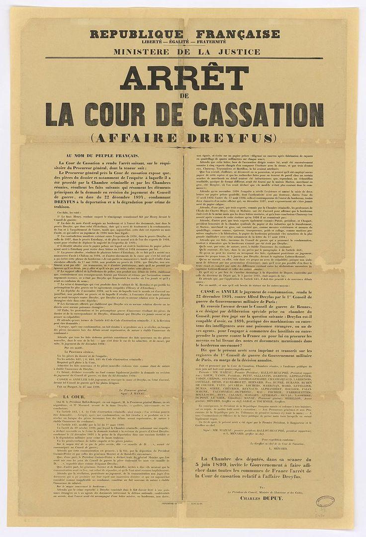 9Fi51 Arrêt de la cour de cassation dans l'affaire Dreyfus - Affaire Dreyfus — Wikipédia