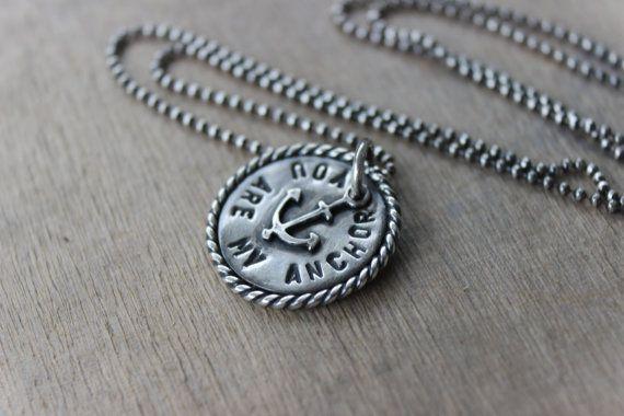 Du bist mein Anker 925er Silber Halskette - Marine Bereitstellung / nautische Halskette / navy Frau / Militär/Coast guard