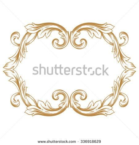 20 best Baroque Ornaments images on Pinterest Woodcarving - baroque scroll designs