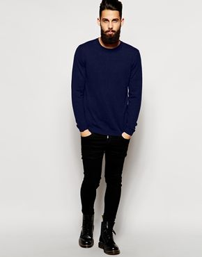 Enlarge ASOS Merino Crew Neck Jumper in Gift Box